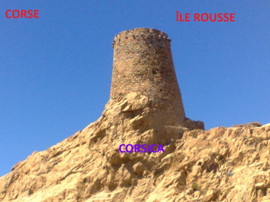 Carte Corse tour île Rousse