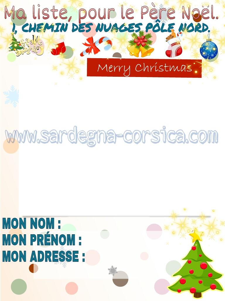 Mia lista per Papa Natale  ( in Francia )