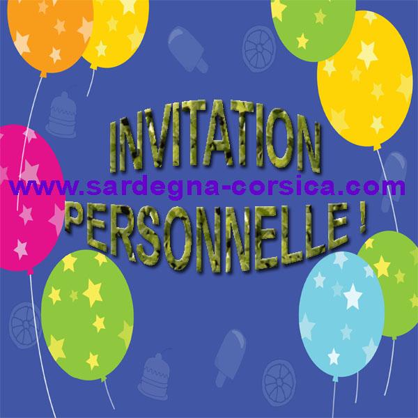 Invitation personnelle