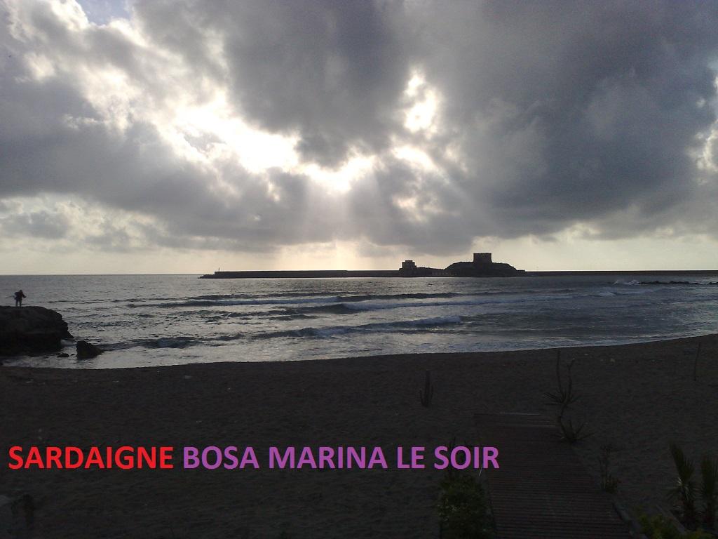 Carte Sardaigne Bosa Marina le soir